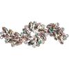 Crystal Motifs Fancy Swirl 10.5x4cm Olivine Aurora Borealis/gunmetal